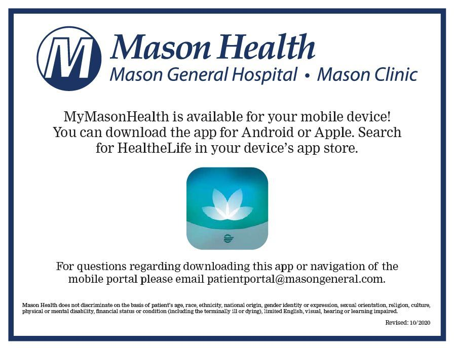 My Mason Health Postcard