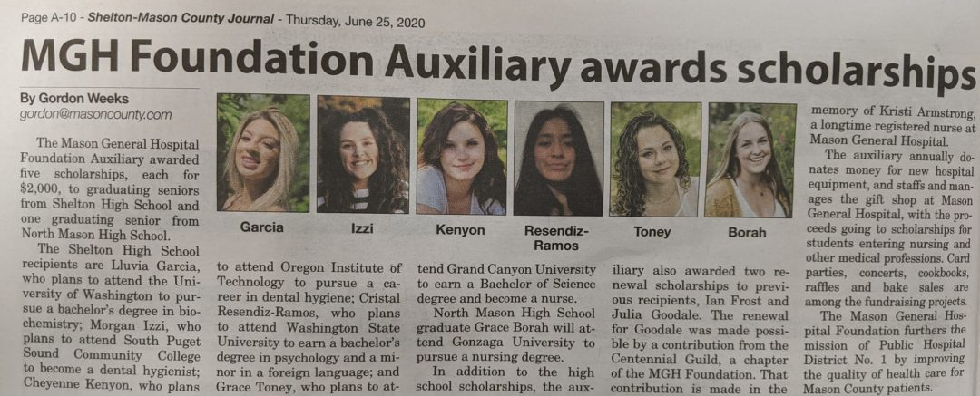 Auxiliary Scholarship Article