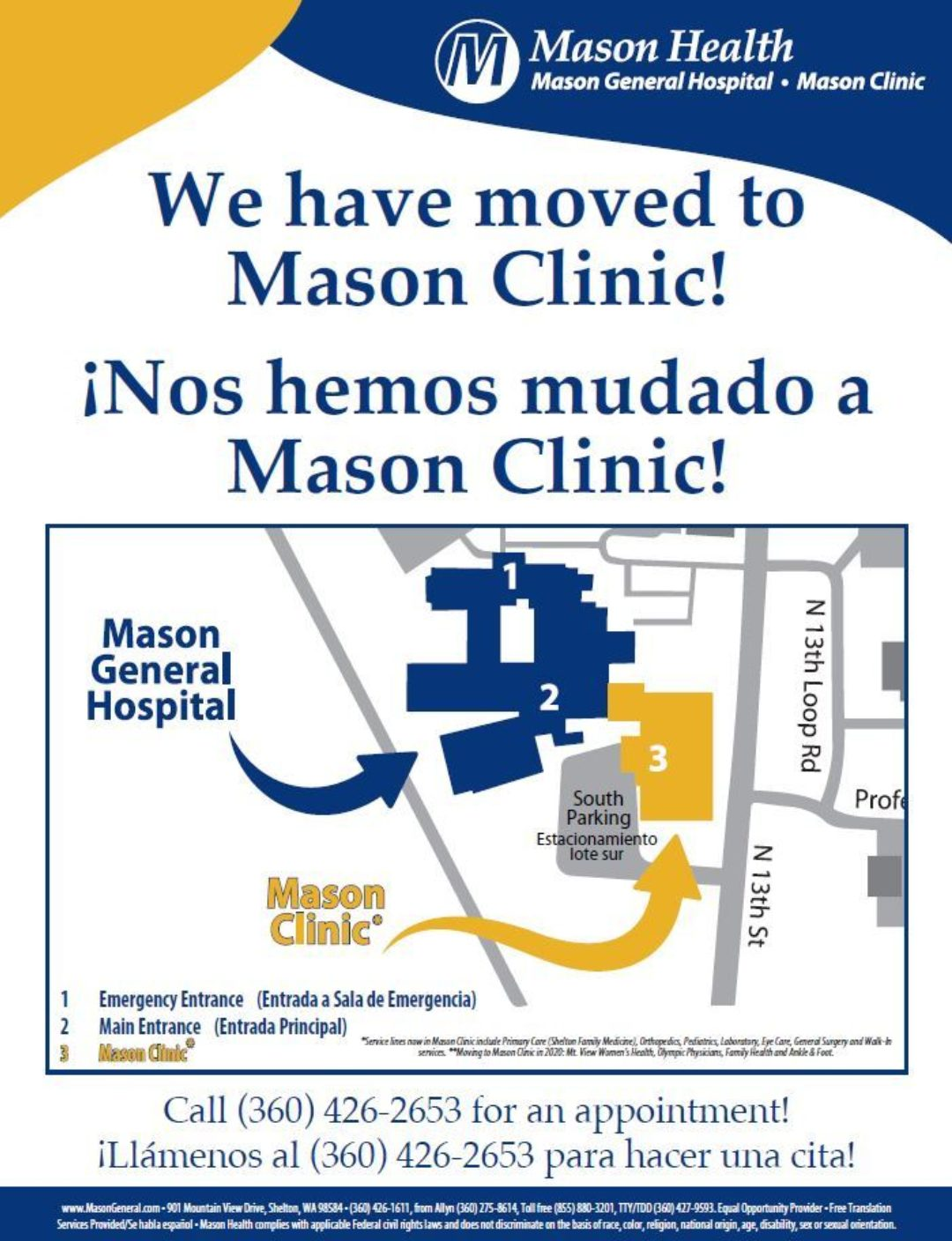 We Have Moved To Mason Clinic Flyer